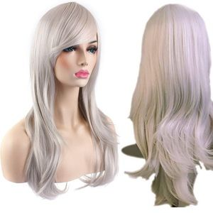 BRAND NEW- icy white/silver wig- WITH net/cap